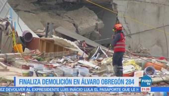 Concluye demolición en edificio de Álvaro Obregón 284
