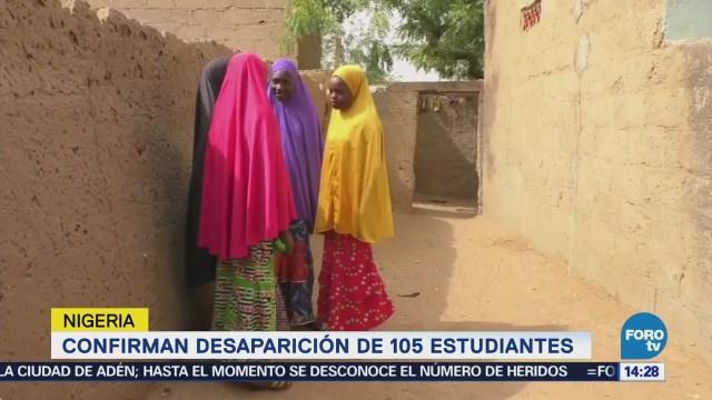 Confirman Desaparición 105 Estudiantes Nigeria