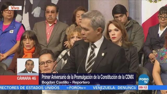 Conmemoran Primer Aniversario de la Promulgación de la Constitución de la CDMX