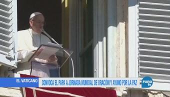 Convoca el Papa a jornada mundial de oración y ayuno por la paz