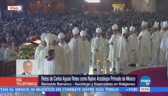 Cuáles son los retos de Carlos Aguiar como arzobispo primado de México