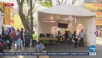 Damnificados Multifamiliar Tlalpan Realizan Asamblea