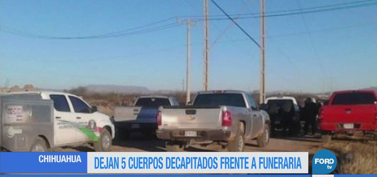 Dejan cinco cuerpos en funeraria en Chihuahua