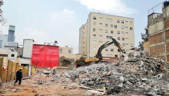 Gobierno CDMX concluye demolición de 20 inmuebles dañados por sismo 19S