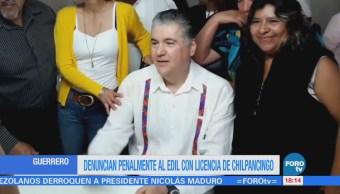 Denuncian al edil con licencia de Chilpancingo