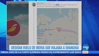 Desvían vuelo de Madrid a Shanghái