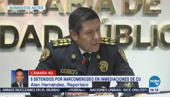 Detienen Cinco Personas Narcomenudeo Alrededores Ciudad Universitaria
