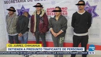 Detienen a presunto traficante de personas en Ciudad Juárez, Chihuahua