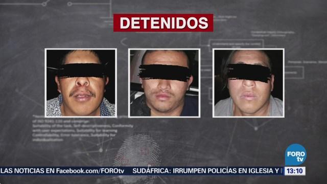 """Detienen a tres presuntos integrantes de """"La Línea"""" en Chihuahua"""