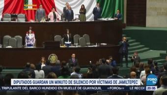 Diputados Guardan Minuto Silencio Víctimas Jamiltepec