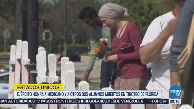 Ejército de EU honra a mexicano muerto en tiroteo de Florida