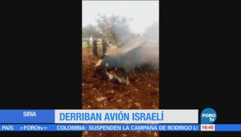 Ejército sirio derriban avión israelí
