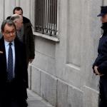 El expresidente catalán Artur Mas a su llegada al tribunal