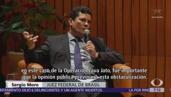 El juez brasileño Sergio Moro ofrece conferencia en El Colegio Nacional