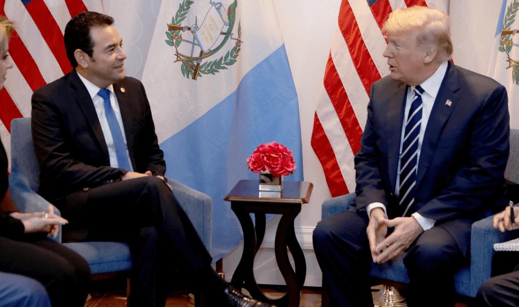 El presidente de Guatemala, Jimmy Morales, y Donald Trump