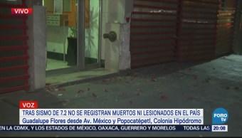 Se ladea edificio de la calle México y Popocatépetl tras sismo de 7.2 grados