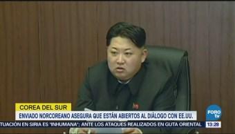 Enviado norcoreano asegura que están abiertos al diálogo con EU