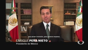EPN destaca ingresos por inversión extranjera