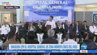 Epn Encabeza Inauguración Hospital Imss Sonora