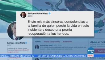 EPN ofrece sus condolencias por accidente de caravana e 'Marichuy'