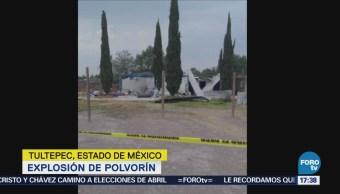 Explota Polvorín Tultepec Edomex