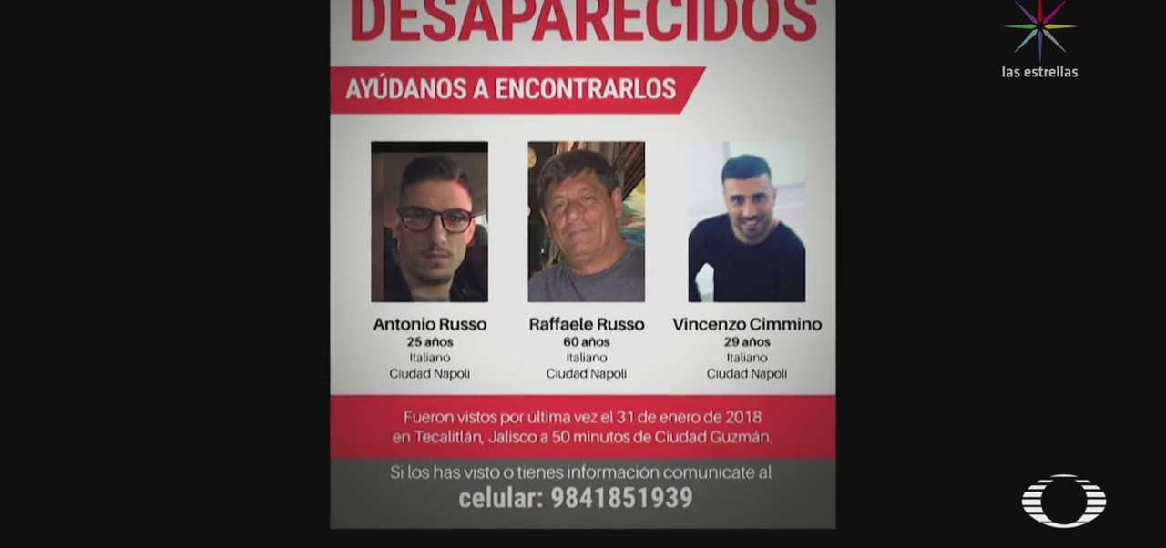 Familia de italianos desaparecidos en Jalisco detectan irregularidades