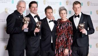 'Three Billboards' triunfa en los BAFTA; reconocen a Guillermo del Toro