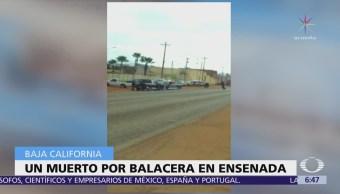 Graban balacera en Ensenada, Baja California