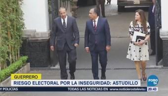 Guerrero en riesgo electoral por la inseguridad: Astudillo