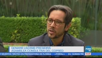 Genaro Lozano presidirá Asamblea Consultiva de la Copred