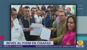 IEPC de Chiapas rechaza salida del PVEM de la coalición 'Todos por Chiapas'