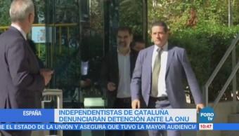Independentistas de Cataluña denunciarán detención ante la ONU