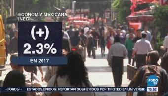 Inegi Reporta Crecimiento 0.8% Pib Cuarto Trimestre 2017