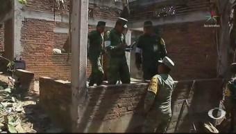 Inicia reconstrucción de casa de sobreviviente del desplome de helicóptero, en Oaxaca