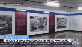 Inician trabajos de rescate de zona arqueológica del Metro Pino Suárez