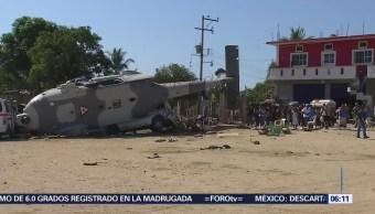 Investigan desplome de helicóptero en Oaxaca