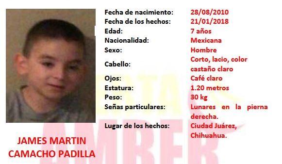 Encuentran cuerpo de menor en Chihuahua; podría ser James Martin Camacho