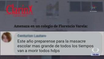 Joven Amenaza Atacar Escuela Buenos Aires