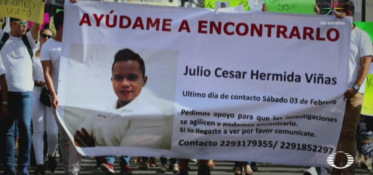 Julio César Hermida uno de los jóvenes desaparecidos en Veracruz
