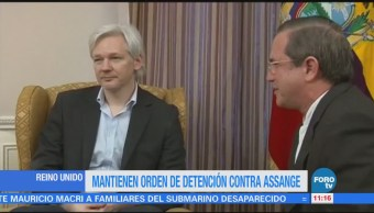 Justicia británica mantiene orden de detención de Assange