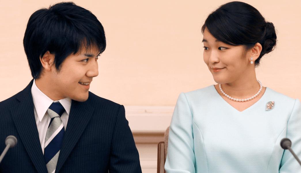 La princesa Mako y su novio Kei Komuro