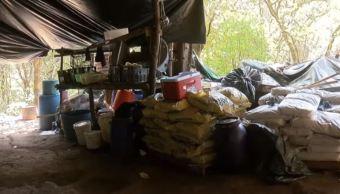 Ejército asegura laboratorio clandestino de drogas en Tecalitlán, Jalisco