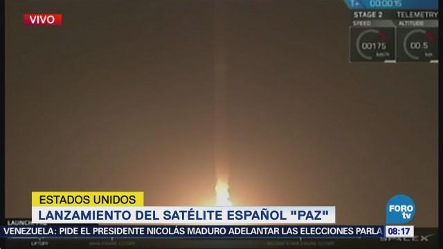 Lanzan Satélite Español Paz California Estados Unidos