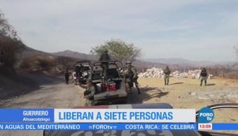 Liberan a siete personas privadas de la libertad en Guerrero