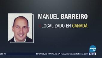 Localizan al empresario Manuel Barreiro en Canadá