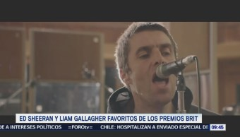 #LoEspectaculardeME: Ed Sheeran y Liam Gallagher favoritos de los Premios Brit