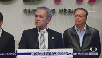 Mancera admite presenta de narcos en la CDMX tras aparición de mantas