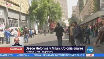 Manifestantes afectan circulación sobre Paseo de la Reforma, CDMX