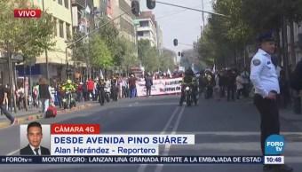Manifestantes Alistan Marcha Hacia Cámara Diputados, Cdmx