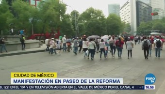 Manifestantes Marchan Sobre Paseo Reforma
